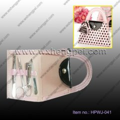 Wedding gift Pink nail clippers suit bag(HPWJ-041)