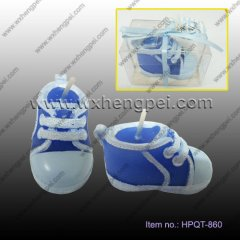 Wedding gift Candles cute little baby shoes shape(HPQT-860)