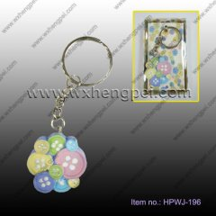 wedding gift A riot of colours buttons creative key ring(HPWJ