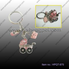 wedding gift Pink baby car key chain / delicate Pendant(HPQT-