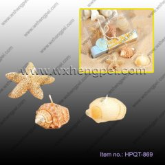 Beach wedding candles sea shells starfish candle(HPQT-869)