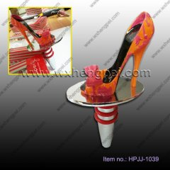 Orange and purple and big bow shoes red wine stopper(HPJJ-103
