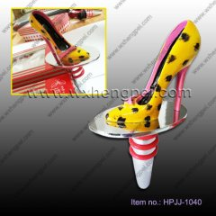 Wedding yellow and black little butterfly knot high-heeled sh